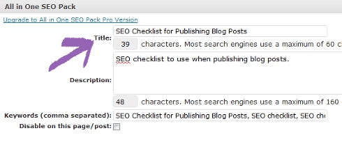 Change Post's Title using SEO plugin