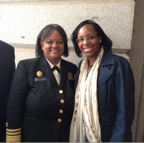 U.S Surgeon General Dr. Regina Benjamin with Stacey Ferguson